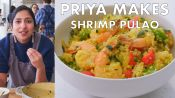 Priya Makes Shrimp Pulao with Quinoa