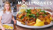 Molly Makes Crispy Smashed Potatoes