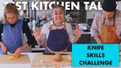 Professional Chefs Compete in a Knife Skills Speed Challenge