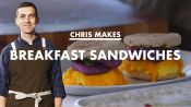 Chris Makes Breakfast Sandwiches