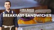 Chris Makes Breakfast Sandwiches