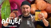 Brad Makes Pickled Onions at Home
