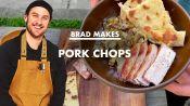 Brad Makes Pork Chops and Flat Bread at Home