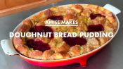 Amiel Makes Doughnut Bread Pudding at Home