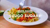 Hawa Makes Suugo Suqaar (Somali Pasta)