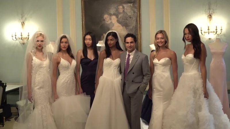 Watch Bridal Fashion | Zac Posen Shows Off His New Wedding Dresses ...
