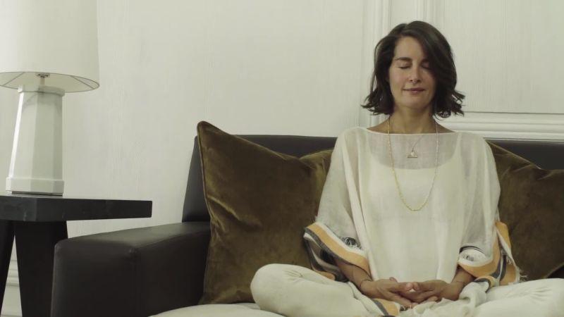 Image result for meditation on big sofa