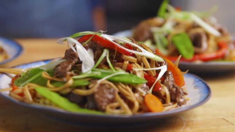 Beef Lo Mein Recipe Epicurious Com