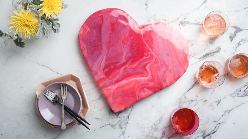 How to Make a Heart-Shaped Mirror Glaze Cake | Epicurious.com