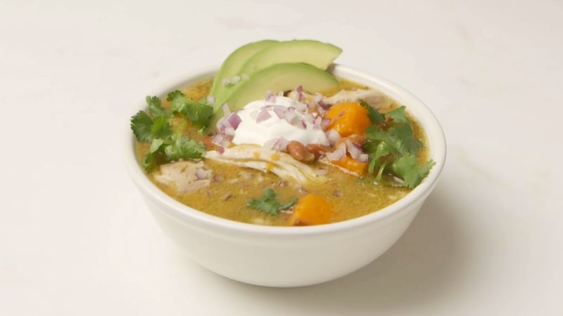 Slow Cooker Green Chicken Chili Recipe Epicurious Com