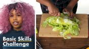 50 People Try to Chop Lettuce