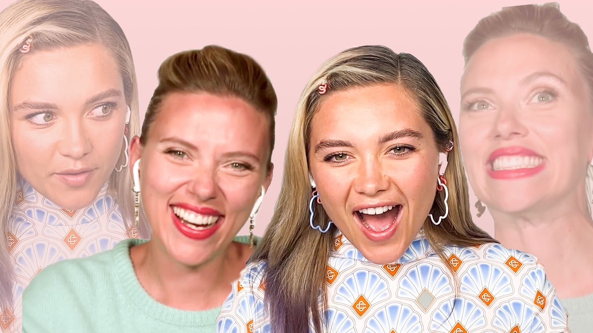 Watch Scarlett Johansson and Florence Pugh Take a Friendship Test   Friended   Glamour
