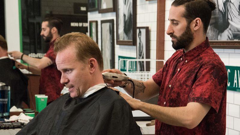 Sex at barbershop