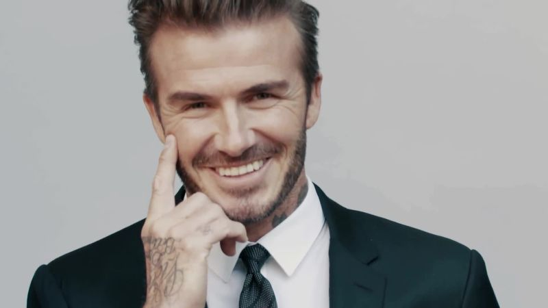 David Beckhams Newest Kent Curwen Menswear Is Inspired By His - David beckham recent hairstyle