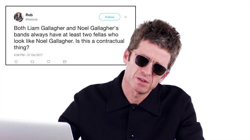 Noel Gallagher Goes Undercover on Twitter, Instagram, Reddit, and Quora