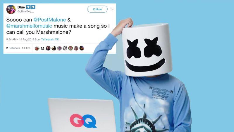 Marshmello Goes Undercover on Twitter, YouTube, and Reddit