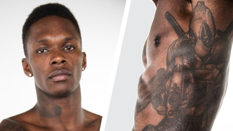 UFC Fighter Israel Adesanya Shows Off His Ink