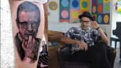 Jeff Goldblum Rates Tattoos of Jeff Goldblum