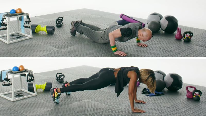 how to do a push up self