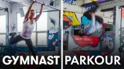 Gymnasts Try to Keep Up With Parkour Experts