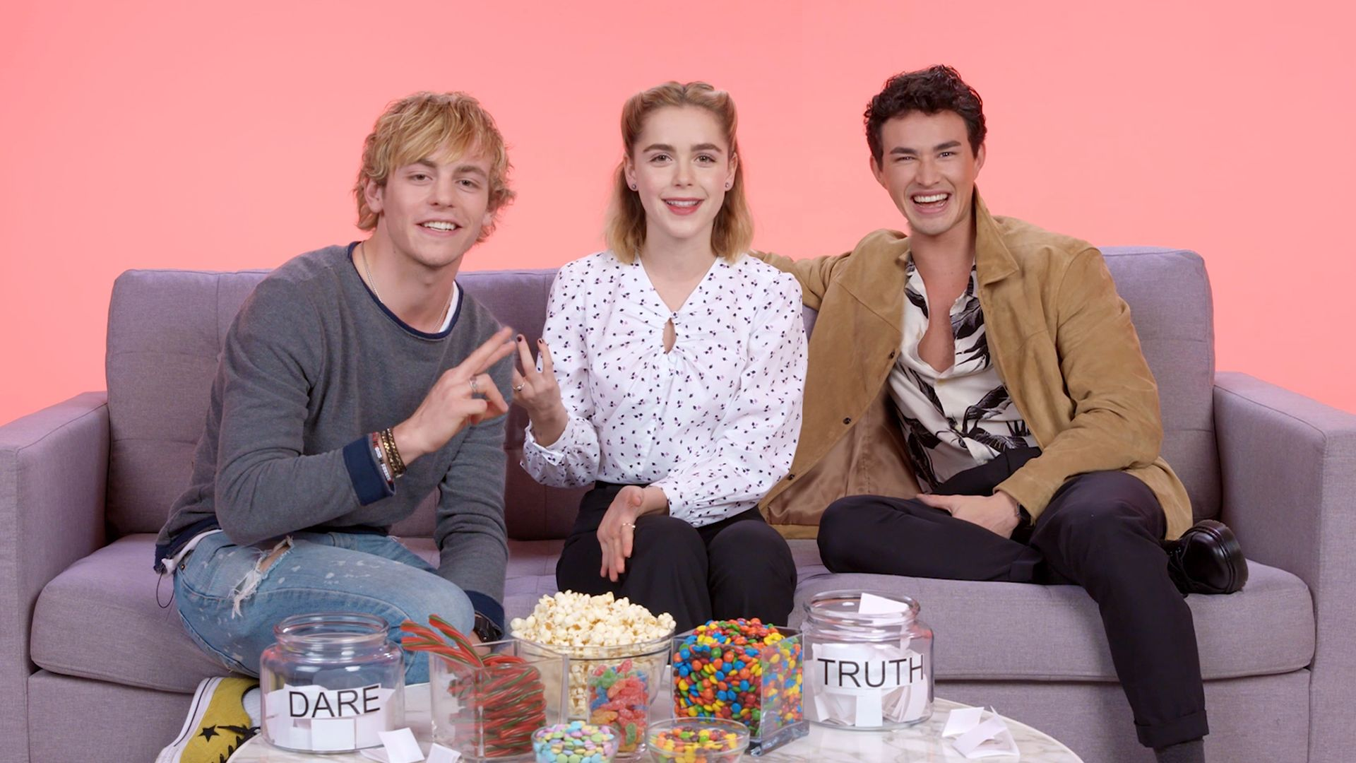 """Watch Truth or Dare  """"The Chilling Adventures of Sabrina"""" Cast Plays 'I Dare You'  Teen Vogue"""