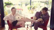 Breakfast with Bevan: Model Coco Rocha Having Pizza for Breakfast