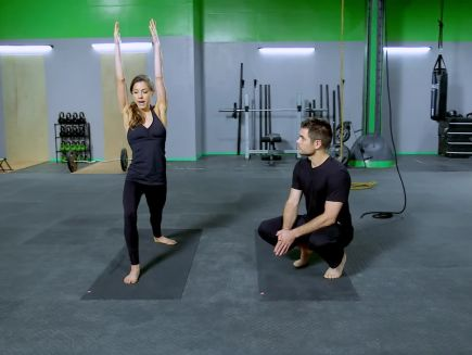 yoga leg workout  gq  the scene