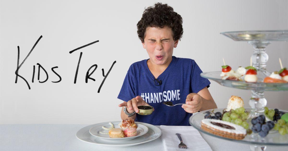 Kids Eating Salmon