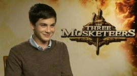 Logan Lerman and Gabrielle Wilde on 'The Three Musketeers'