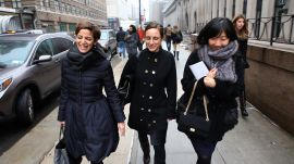 Glamour Editor in Chief Cindi Leive Fights Weather and Traffic to See Donna Karan's Collection
