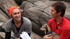 Actor Lee Pace Hits Central Park with James Marshall