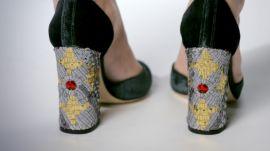 Dolce & Gabbana Green Velvet Heels