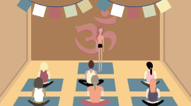 """How to Fake That You Do Yoga (Including the """"Dry Martini Pose"""")"""