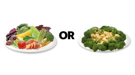 No Veggies vs. Buttery Veggies