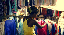 Finding Fashion Inspiration at a Mozambique Market