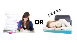 Pulling an All-Nighter vs. Getting 2 Hours of Sleep