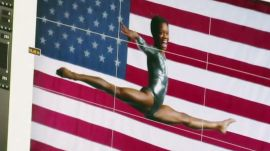 Gabby Douglas at Her Bouncy Photo Shoot