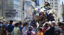 See the Giant Creature Get Ready for Jimmy Kimmel Live