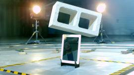 Apple iPad vs. Cinder Block