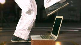 MacBook Air vs. Karate Kick of Death