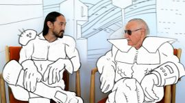 Stan Lee Thinks the World Is Going to Blow Itself Up, Steve Aoki Finds Out Why