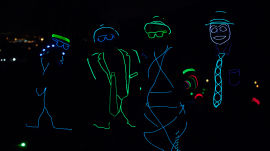Insane Glow-in-the-Dark Trick Shots with the Bryan Brothers