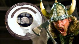 Roomba vs. Battle Axe