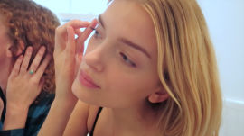 Conquering Your Fear of Contour Powder: Watch Model Lily Donaldson and Makeup Artist Alice Lane Sculpt the Perfect Cheekbones