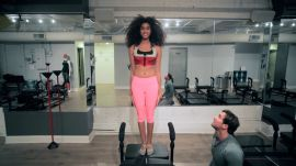 Inside Model Imaan Hammam's SLT Workout: Watch Her 5 Best Moves On the Megaformer