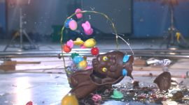 Easter Candy Destroyed in Slow Mo