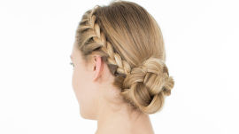 Wedding Hairstyle How To: Braided Bun
