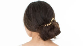 Wedding Hairstyle How To: Jeweled Chignon