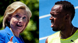 Hillary Clinton and Usain Bolt's Day at the Races