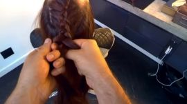 Google Glass Hair How-To: Braided High Ponytail